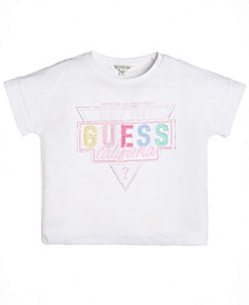 Big Girls Cotton Embellished Logo T-Shirt