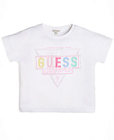 GUESS Big Girls Cotton Embellished Logo T-Shirt