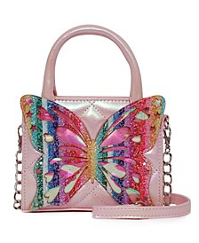 Girls Miss Butterfly Quilted Mini Handbag