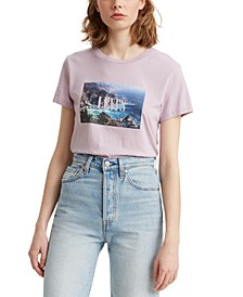 Women's Serif Scenic Photo T-shirt