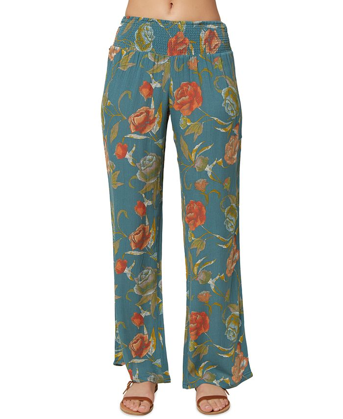O'Neill - Juniors' Johnny Floral-Print Pants