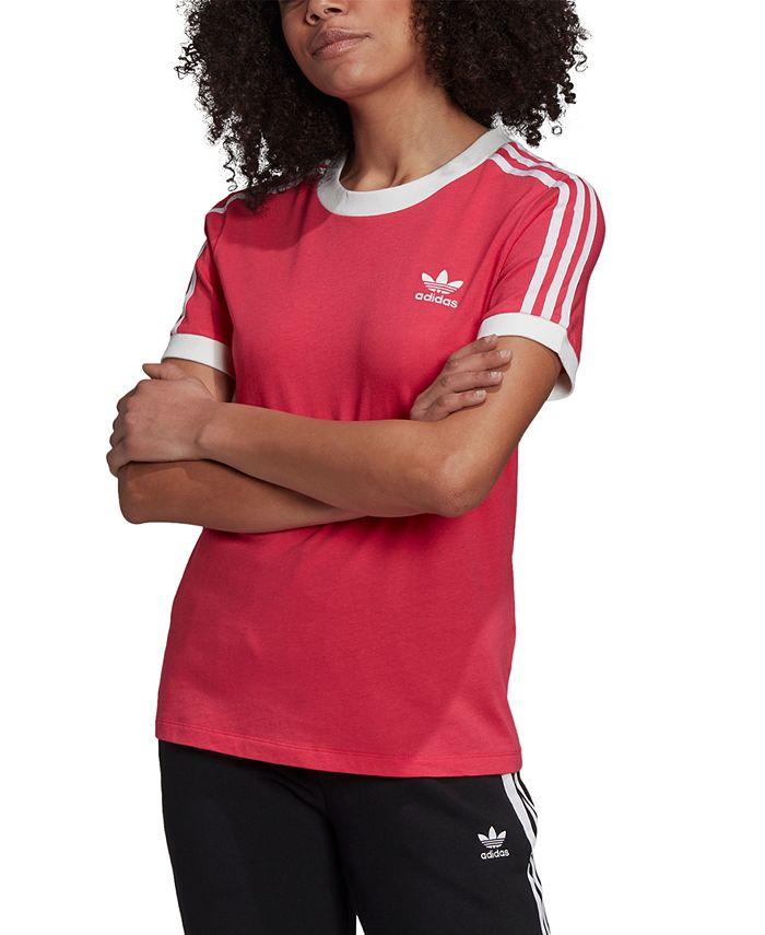 adidas Women's Adicolor Cotton 3-Stripe T-Shirt & Reviews - Tops ...