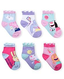 Toddler Girls 6-Pack Peppa Pig Socks