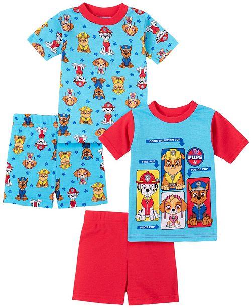 AME Paw Patrol Toddler Boy Cotton 4 Piece Pajama Set
