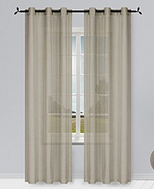 "Solid Semi-Sheer 76"" x 84"" Grommet Curtain Panel, Set of 2"