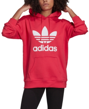 Adidas Originals ADIDAS ORIGINALS WOMEN'S ADICOLOR COTTON TREFOIL HOODIE