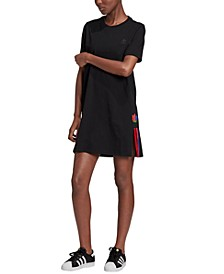 Women's Sonic Trefoil Cotton T-Shirt Dress