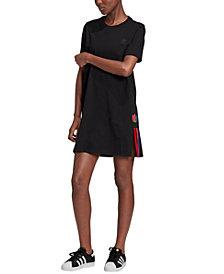 adidas Originals Women's adicolor 3D Trefoil T-Shirt Dress