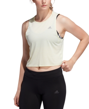 Stay cool on long, sunny-day runs. adidas lightweight tank is made of moisture-wicking fabric to help you stay dry. A back cutout increases ventilation.