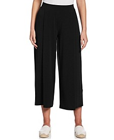 Solid Crop Pant with Trim