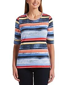 Seaside Stripe Jersey Short Sleeve Tee