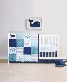 PS Nautical 3-Piece Crib Bedding Set