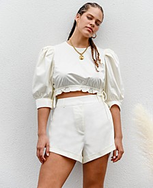 High-Cut Solid Shorts, Created for Macy's