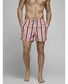 Men's Recycled Striped Swim Shorts