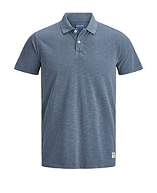 Men's Washed Single Jersey Organic Short Sleeve Polo Shirt