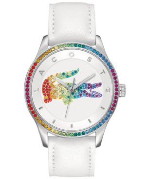 Watch, Women'S Victoria White Leather Strap 40Mm 2000822 from Lacoste
