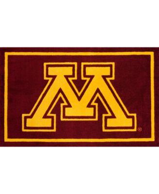 """Minnesota Colmn Maroon 1'8"""" x 2'6"""" Area Rug"""