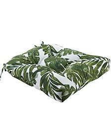 """Everett Palm Print 20"""" x 20"""" Scotchgard Outdoor Chair Pad Seat Cushion"""
