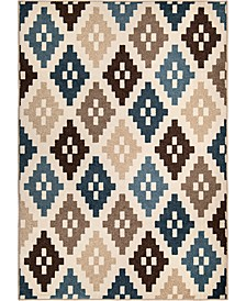 "Ranch Nordic Diamonds Beige 6'6"" x 9'6"" Area Rug"
