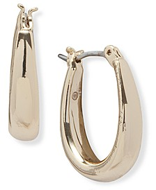 Gold-Tone Polished Graduated Hoop Earrings
