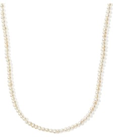 "Gold-Tone Freshwater Pearl (3-1/2 x 4mm) 34"" Strand Necklace"