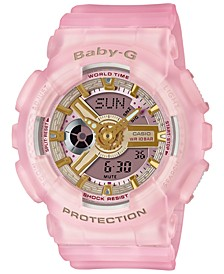 Women's Analog-Digital Frosted Pink Resin Strap Watch 43.4mm