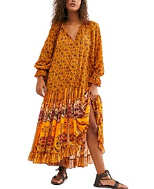 Feeling Groovy Border Maxi Dress