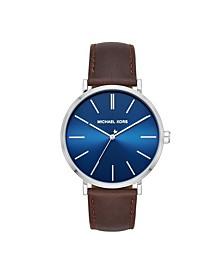 Men's Jayne Three-Hand Brown Leather Watch 42mm MK7146