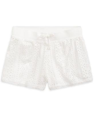 폴로 랄프로렌 걸즈 반바지 Polo Ralph Lauren Big Girls Embroidered Jersey Shorts