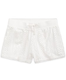Big Girls Eyelet Lace Jersey Cotton Shorts