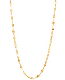 "Flat Link 16"" Chain Necklace in 10k Gold"