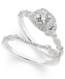 Diamond Vine-Inspired Bridal Set (3/8 ct. t.w.) in 14k White Gold