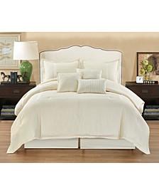 Pisa 7 Piece Comforter Set, California King