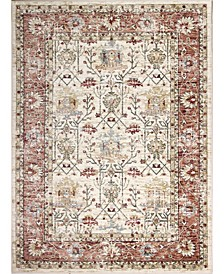 "Plymouth Ply-01 Ivory, Rust 5' x 7'6"" Area Rug"