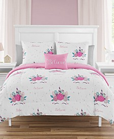 Jessica Unicorn Party Full 7 Piece Comforter Set
