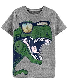 Big Boys Dinosaur Action Graphic Snow Yarn Tee