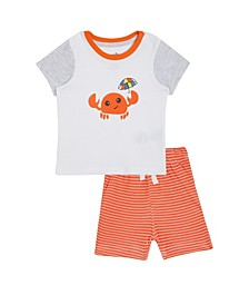 Baby Boys 2-Pc. David Cotton T-Shirt & Printed Shorts Set