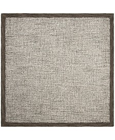 Abstract 220 Brown 6' x 6' Square Area Rug