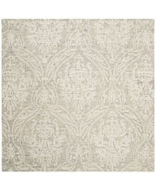 Abstract 204 Gray and Ivory 6' x 6' Square Area Rug