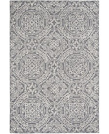 Abstract 522 Gray and Ivory 6' x 9' Area Rug