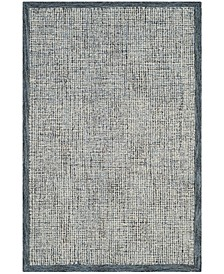 Abstract 220 Navy and Ivory 4' x 6' Area Rug