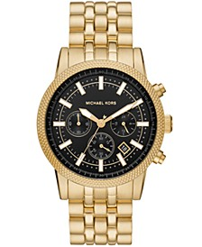 Men's Chronograph Gold-Tone Stainless Steel Bracelet Watch 39mm