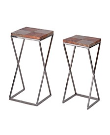 Urban Industrial Side Tables, Set of 2