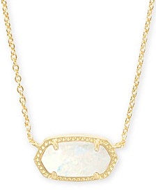 "Gold-Tone Stone Pendant Necklace, 15"" + 2"" extender"