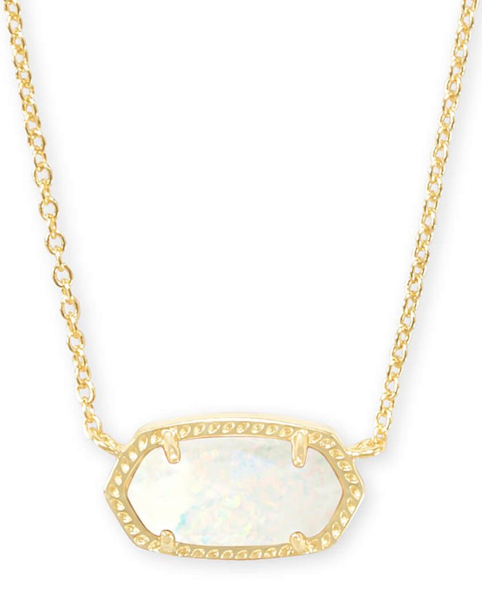 "Kendra Scott - Gold-Tone Stone Pendant Necklace, 15"" + 2"" extender"