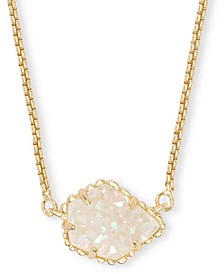 "Drusy Stone Pendant Necklace, 15"" + 2"" extender"