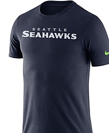 Men's Seattle Seahawks Dri-Fit Cotton Essential Wordmark T-Shirt