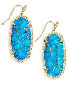 Oval Stone Drop Earrings
