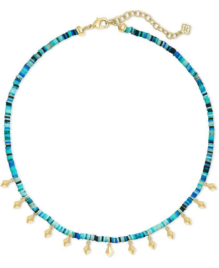 "Kendra Scott - Disc-Bead & Stud Charm Choker Necklace, 15"" + 2"" extender"
