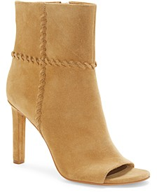 Sashane Peep-Toe Booties